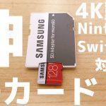 SDカード、高いの買わなくてもClass10 U3に対応してれば良いと思うよ【4K動画&Nintendo Switch対応】